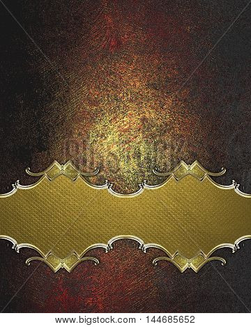 Plate For Decoration Background On Grunge Texture. Template For Design. Copy Space For Ad Brochure O