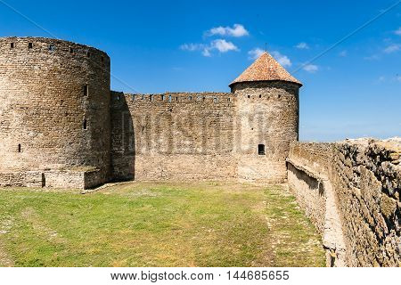 Inside view of Akkerman fortress in Bilhorod-Dnistrovskyi. Ukraine