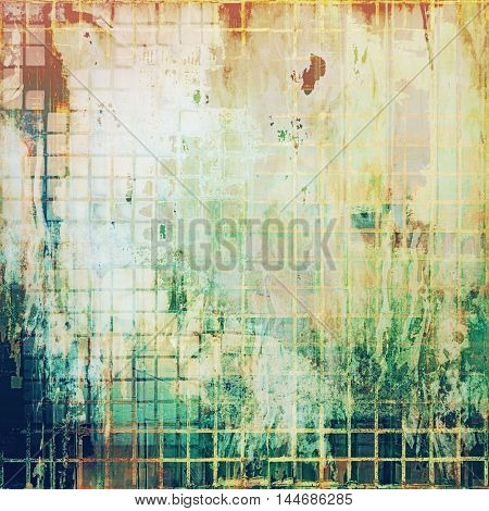 Grunge texture, scratched surface or vintage background. With different color patterns: green; blue; red (orange); yellow (beige); white; cyan