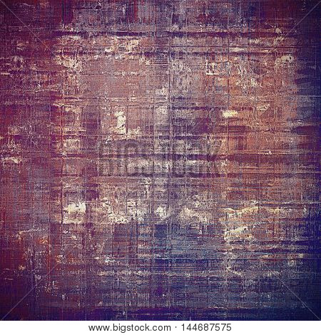 Grunge design composition over ancient vintage texture. Creative background with different color patterns: gray; blue; purple (violet); brown; pink