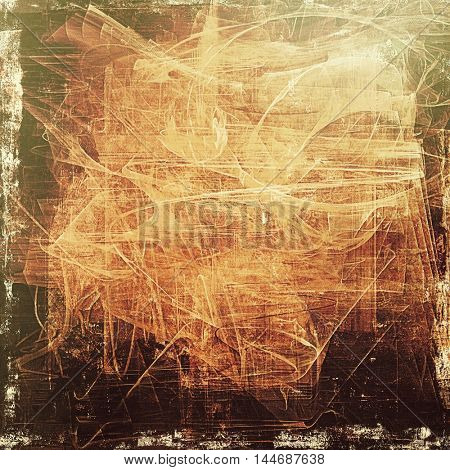 Retro vintage style background or faded texture with different color patterns: gray; green; red (orange); yellow (beige); brown