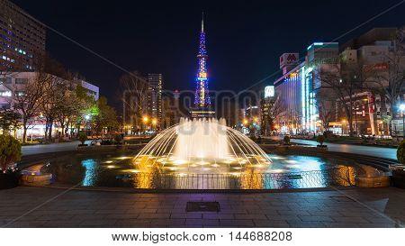 Night Cityscape At Odori Park, Sapporo