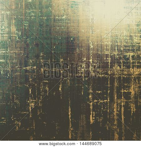 Retro abstract background, vintage grunge texture with different color patterns: gray; green; yellow (beige); brown; black