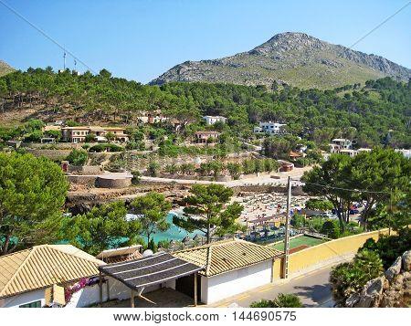 Bay Cala Molins in Cala Sant Vicenc Majorca Spain