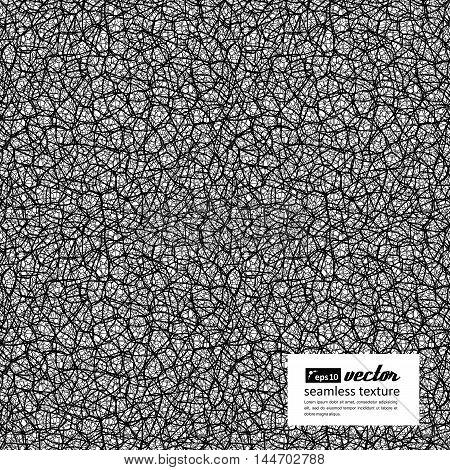 Seamless texture - random network of fractures. Irregular cracks. Vector illustration.