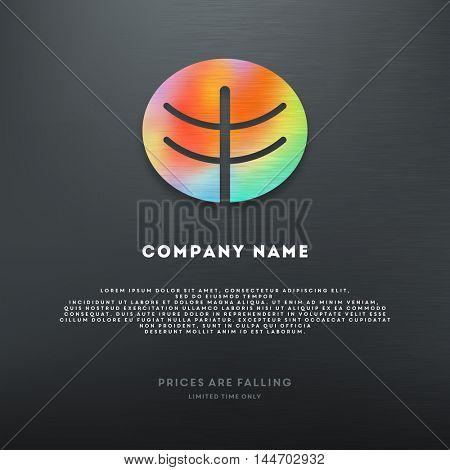 Geometric logo template.