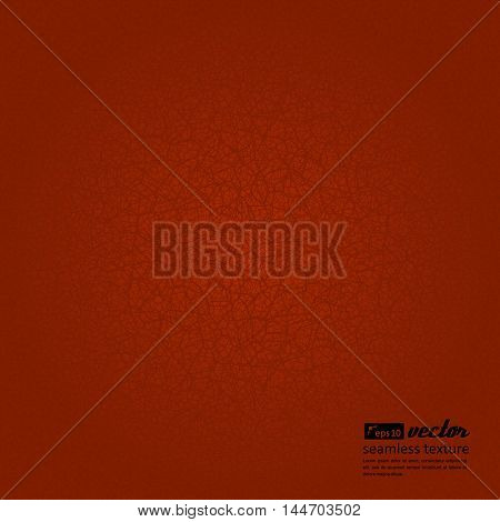 Seamless texture - random network of fractures. Irregular cracks. Vector illustration. Red
