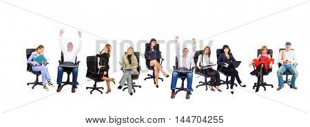 Isolated Group Corporate Concept