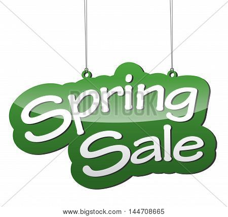 This is green vector background spring sale
