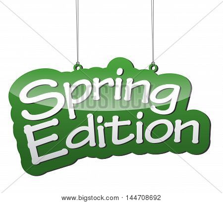 This is green vector background spring edition