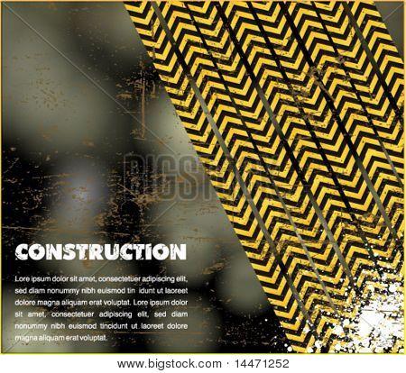 under construction - industrial vector poster