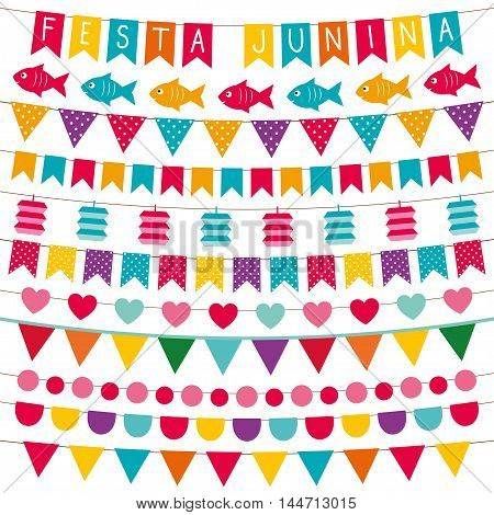 Festa junina (Brazilian June party) banner and decoration