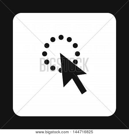 Black cursor icon in simple style isolated on white background. Computer and internet symbol