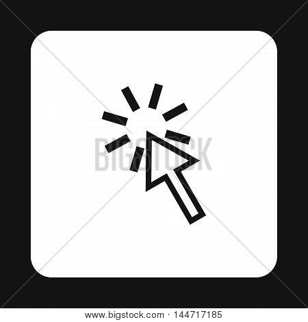 Cursor arrow is pointing icon in simple style isolated on white background. Computer and internet symbol