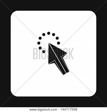 Cursor arrow waiting icon in simple style isolated on white background. Computer and internet symbol