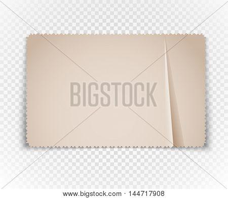 Vintage postcard on transparent background. Template for a content