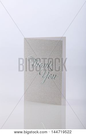 greeting card on the white background