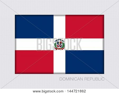 Flag Of Dominican Republic. Rectangular Official Flag With Proportion 2:3