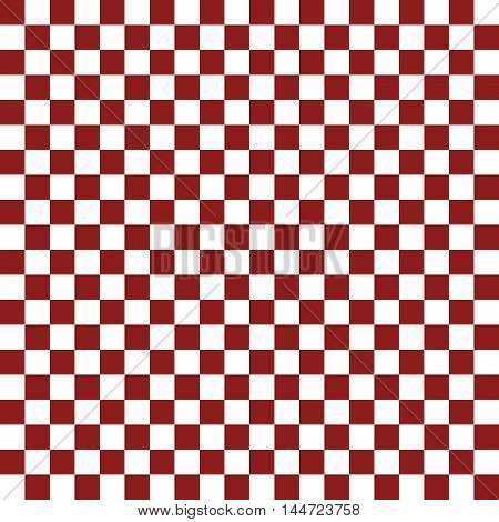 Red and white chess board - vector illustration.. Seamless pattern of red and white squares