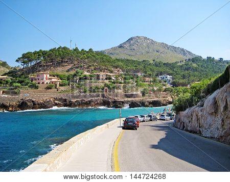 Bay Cala Molins In Cala Sant Vicenc, Majorca