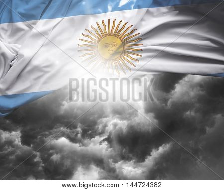 Argentina flag on a bad day