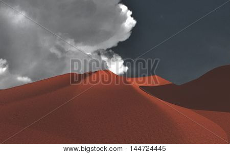 Surreal desert 3D Render