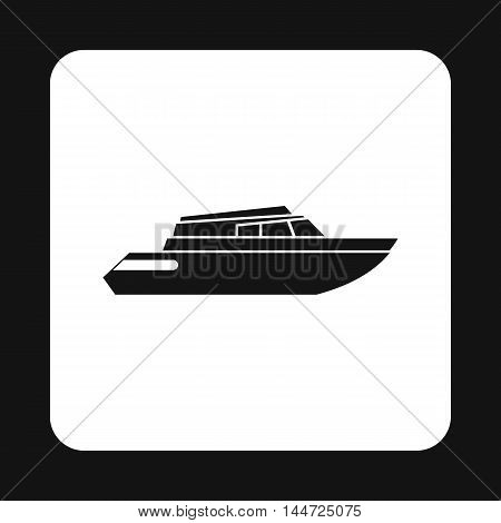 Mini yacht icon in simple style isolated on white background. Sea transport symbol