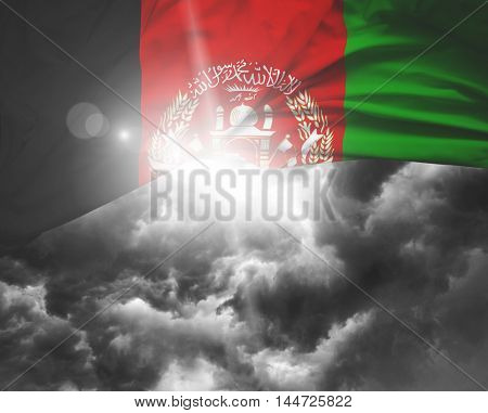 Afghanistan flag on a bad day