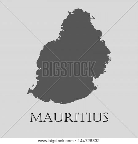 Gray Mauritius map on light grey background. Gray Mauritius map - vector illustration.