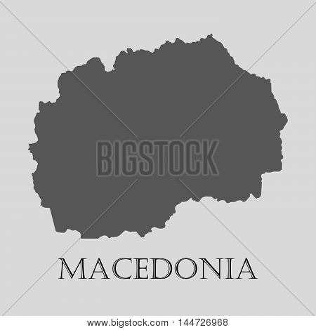 Gray Macedonia map on light grey background. Gray Macedonia map - vector illustration.