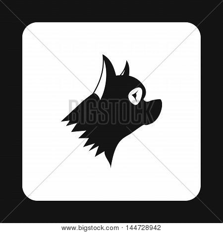 Pinscher dog icon in simple style isolated on white background. Animals symbol