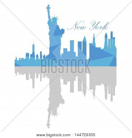 Isolated New York Skyline