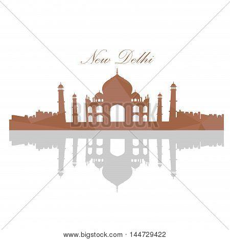 Isolated Taj Mahal Landscape