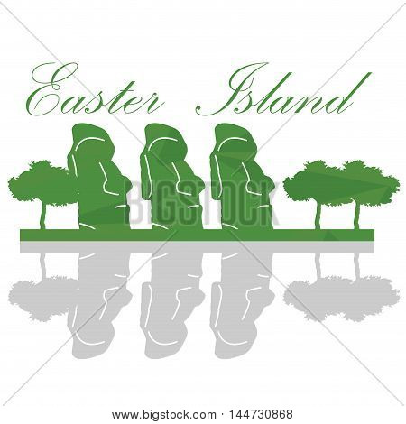 Isolated Easter Island Landscape