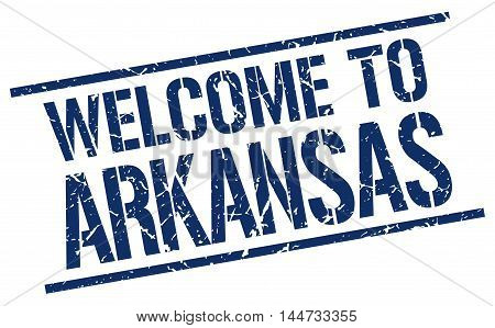 welcome to Arkansas. stamp. grunge square sign