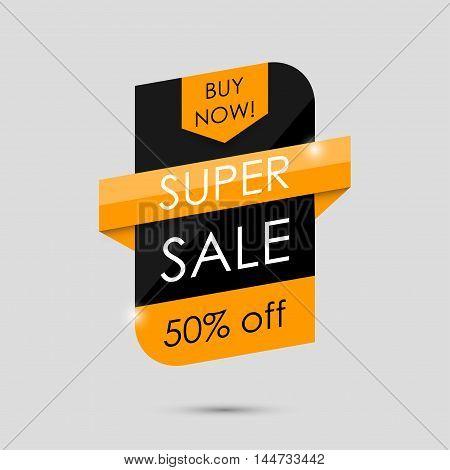 Super Sale Shining Banner. Sale