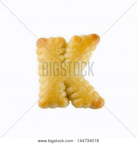 K-shape Cracker in the form of the alphabet