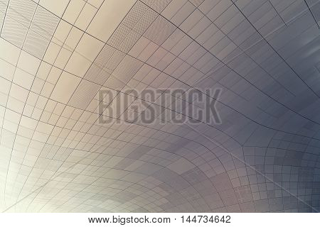 Seoul, South Korea - August 14, 2016: Ceiling Of Dongdaemun Design Plaza Roof In Seoul, Designed By