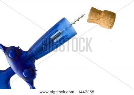Corkscrew And Cork, Isolated