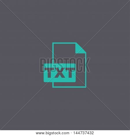 Txt Icon. Vector Concept Illustration For Design