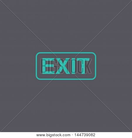 Exit Icon. Vector Concept Illustration For Design