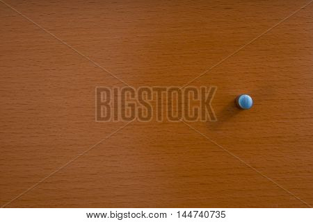 Knob of Wooden Dresser Drawer Texture Pattern Background
