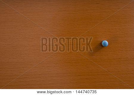 Knob of Wooden Dresser Drawer Texture Pattern Background