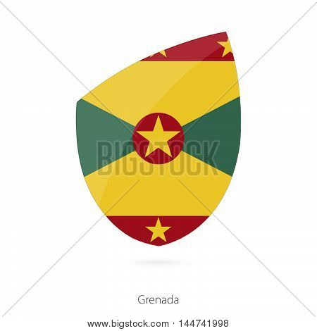 Flag of Grenada in the style of Rugby icon. Vector Illustration.
