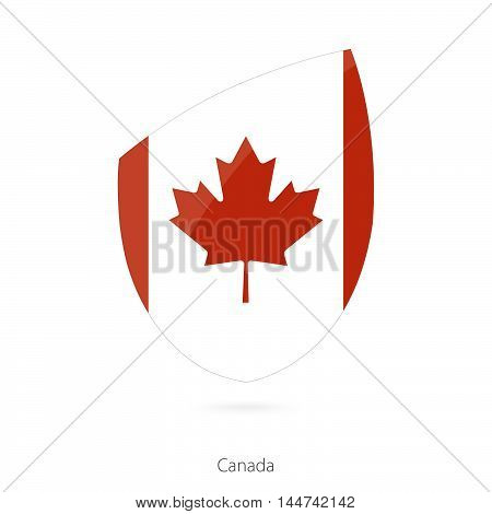 Flag of Canada in the style of Rugby icon. Vector Illustration.