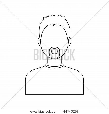 Man with a beard icon line. Single avatar, peopleicon from the big avatar line.