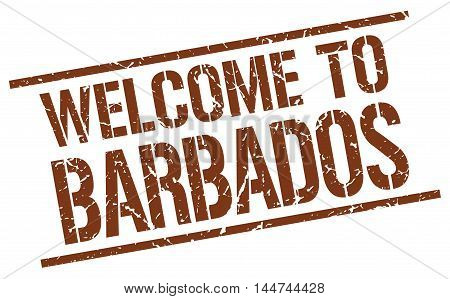 welcome to Barbados. stamp. grunge square sign