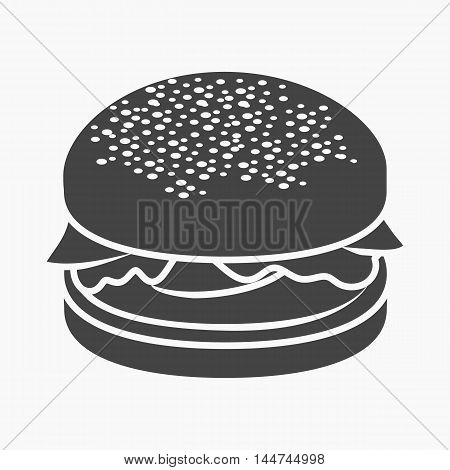 Burger vector illustration icon in simple design