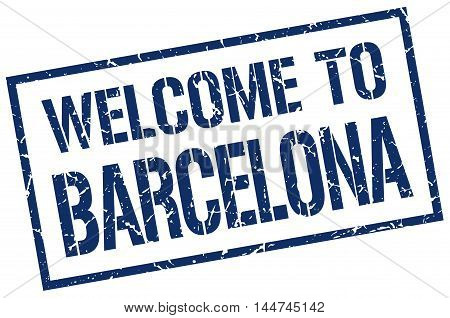 welcome to Barcelona. stamp. grunge square sign