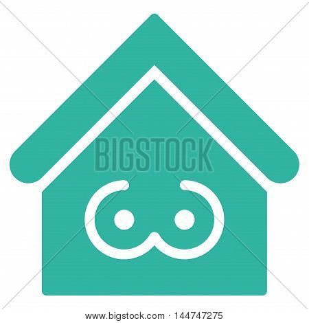 Strip Bar icon. Glyph style is flat iconic symbol, cyan color, white background.